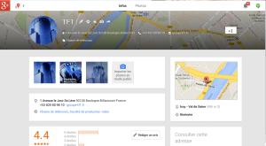 TF1 : sa page non gérée sur Google+