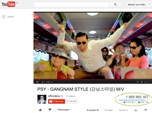 GangnamStyle : 2 milliards de vues you tube ?