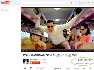 GangnamStyle : 2 milliards de vues you tube ?